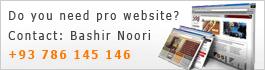 Afghan Webmaster - Sayed Bashir Ahmad Noori